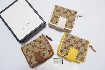 GUCCI Folding Wallet Long Wallet  Small Wallet Logo Unisex Leather