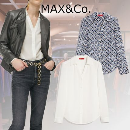 Max&Co. Casual Style Silk Long Sleeves Medium Party Style