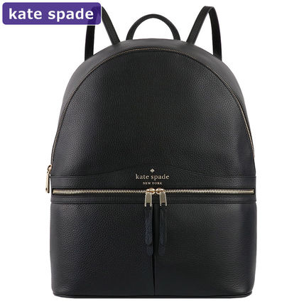 kate spade new york Casual Style A4 Plain Leather Office Style Backpacks