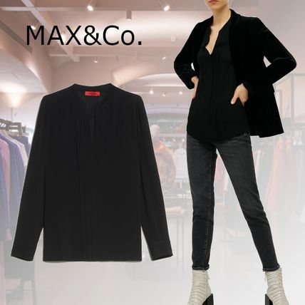 Max&Co. Casual Style Long Sleeves Plain Medium Party Style