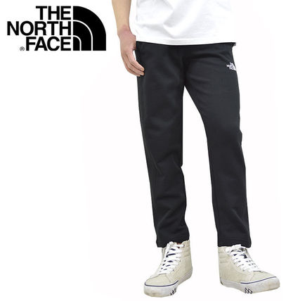 THE NORTH FACE Logo Tapered Pants Unisex Cotton Street Style Oversized