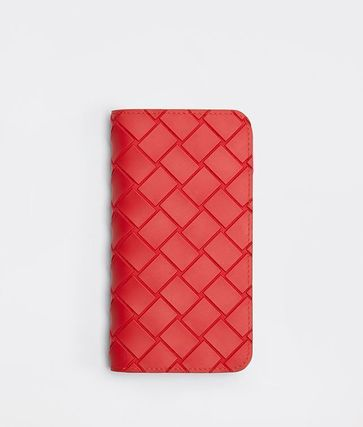 BOTTEGA VENETA Unisex Plain Khaki Logo Smart Phone Cases