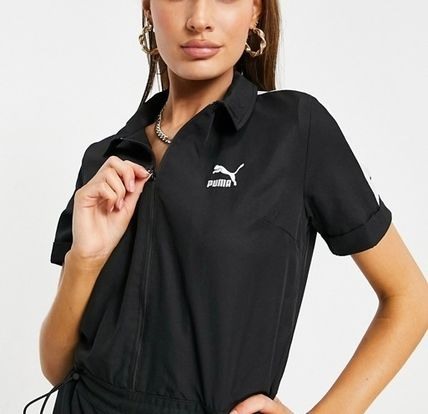 Casual Style Street Style Plain Short Sleeves Co-ord Logo
