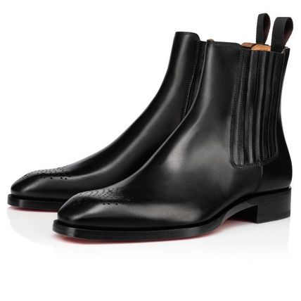 Christian Louboutin Plain Leather Street Style Chelsea Boots Chelsea Boots