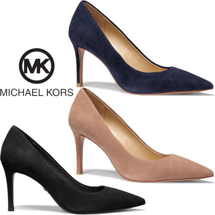 Michael Kors Casual Style Suede Plain Pin Heels Party Style Office Style