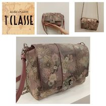 PRIMA CLASSE Flower Patterns Casual Style Blended Fabrics Street Style