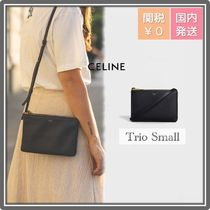 CELINE Trio Bag Casual Style Leather Party Style Office Style Elegant Style