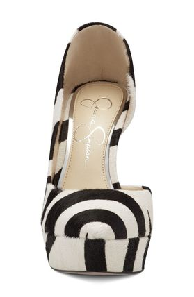 Zebra Patterns Casual Style Leather Pin Heels Street Style