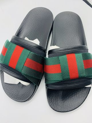 GUCCI Logo Leather Sandals