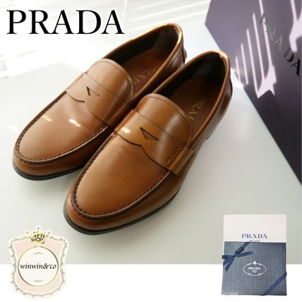 PRADA Leather Logo Oxfords
