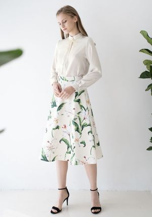 Chicwish Flower Patterns Party Style Elegant Style Formal Style