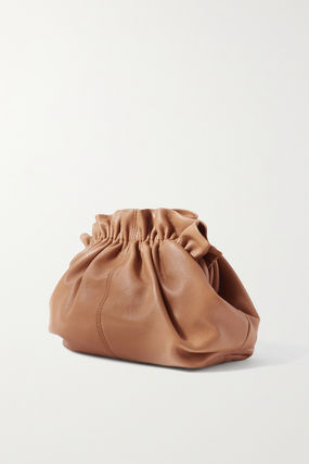 Casual Style Plain Leather Elegant Style Shoulder Bags