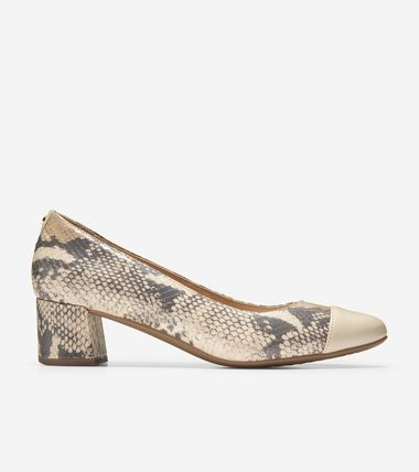 Cole Haan Plain Toe Blended Fabrics Leather Office Style Python
