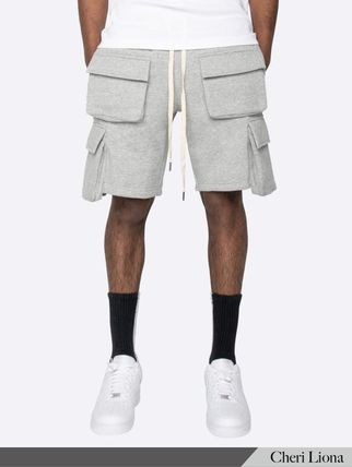 Sweat Street Style Plain Cargo Shorts