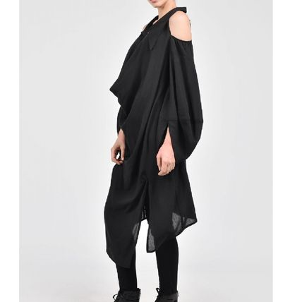 Long Sleeves Plain Long Party Style Puff Sleeves Asymmetry