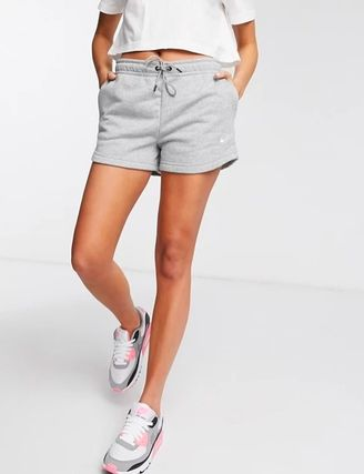 Nike Short Casual Style Street Style Plain Cotton Formal Style