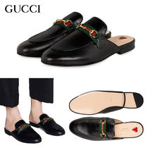 GUCCI Lace-up Casual Style Unisex Street Style Office Style Mules