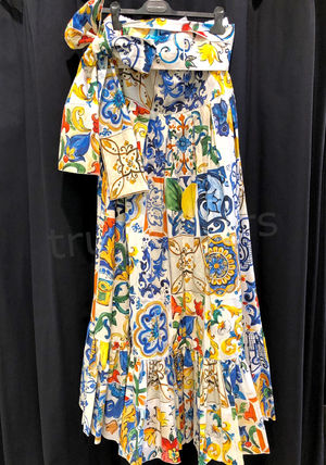 Dolce & Gabbana Flared Skirts Casual Style Maxi Cotton Long Party Style
