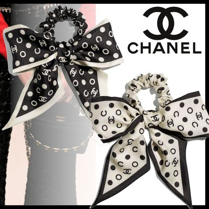 CHANEL Bridal Scrunchy Party Style Office Style Elastics