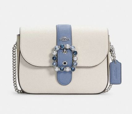Crossbody Logo Casual Style Monogram Leather Party Style