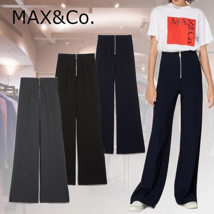 Max&Co. Casual Style Plain Cotton Long Office Style Elegant Style