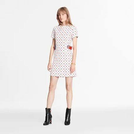 Louis Vuitton Game On Contrast Martingale Straight-Cut Dress