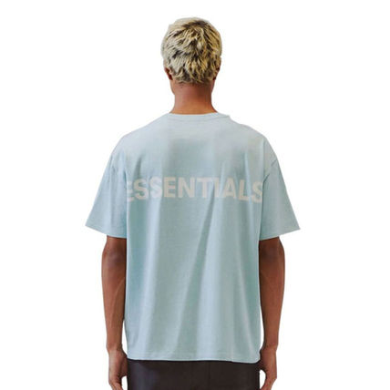 FEAR OF GOD ESSENTIALS Unisex Street Style U-Neck Plain Cotton Short Sleeves Logo