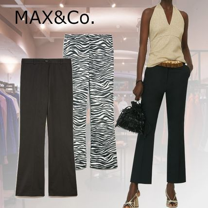 Max&Co. Zebra Patterns Casual Style Plain Party Style Office Style