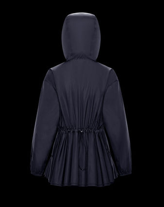 MONCLER SARCELLE Short Nylon Plain Raincoat Coats
