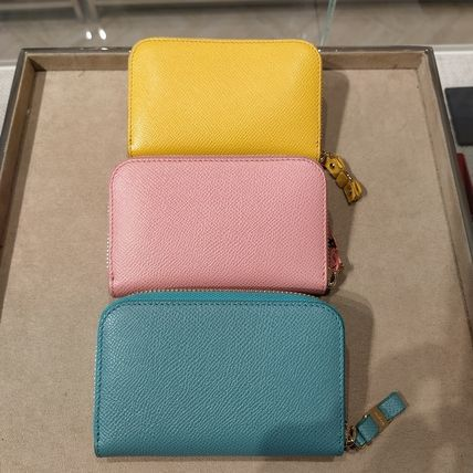 Plain Leather Long Wallet  Small Wallet Coin Cases