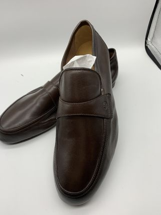 GUCCI Logo Plain Leather Oxfords