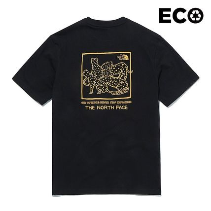 THE NORTH FACE More T-Shirts Unisex Street Style Cotton Logo Outdoor Graphic Prints 2