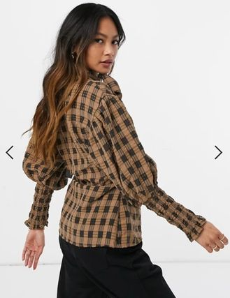 Other Plaid Patterns Casual Style Long Sleeves Medium