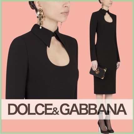 Dolce & Gabbana Long Sleeves Plain Party Style Elegant Style Formal Style