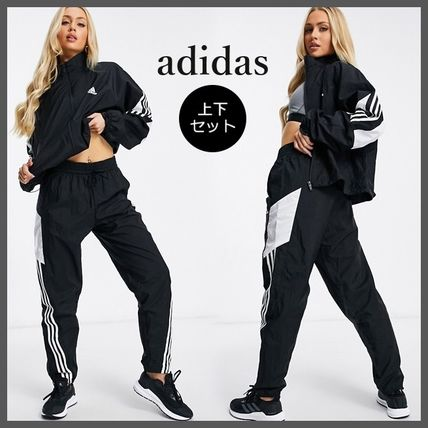 adidas Casual Style Unisex Street Style Long Sleeves Plain Co-ord
