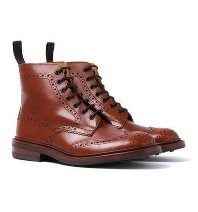 Tricker's Wing Tip Mountain Boots Leather Outdoor Boots