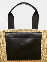 Massimo Dutti Street Style Leather Straw Bags