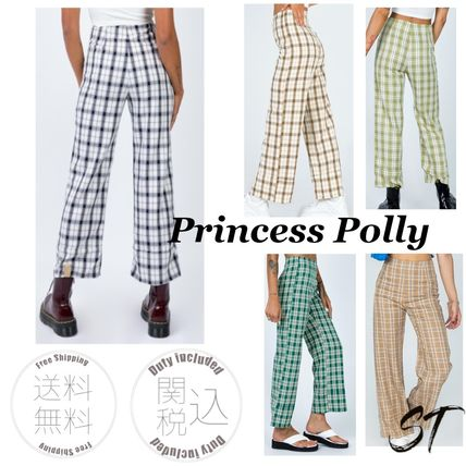 Princess Polly Other Plaid Patterns Casual Style Street Style Long