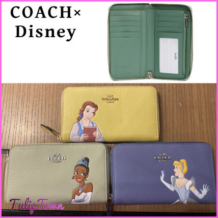Coach Collaboration Leather Long Wallet  Logo Long Wallets