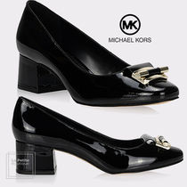 Michael Kors Round Toe Casual Style Enamel Suede Plain Leather