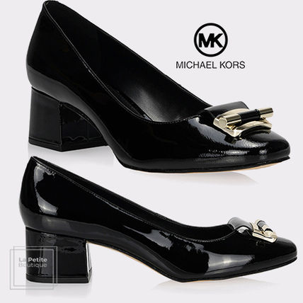 Michael Kors Formal Style  Round Toe Casual Style Enamel Suede Plain