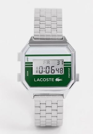 LACOSTE Casual Style Square Stainless Digital Watches