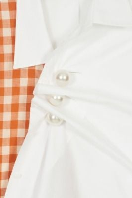 Gingham Casual Style Long Sleeves Cotton Street Style