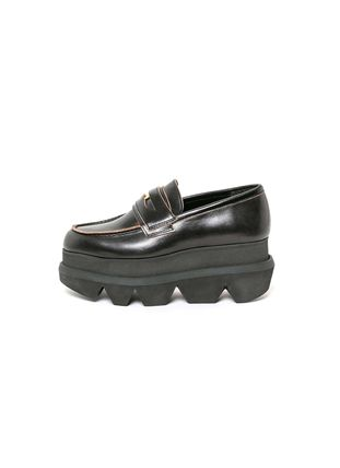 sacai Platform Round Toe Rubber Sole Casual Style Blended Fabrics