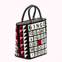 Lulu Guinness Totes Casual Style Blended Fabrics A4 Logo Totes 4