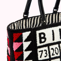Lulu Guinness Totes Casual Style Blended Fabrics A4 Logo Totes 5