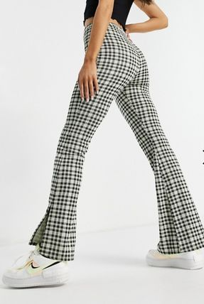 ASOS Other Plaid Patterns Printed Pants Gingham Casual Style