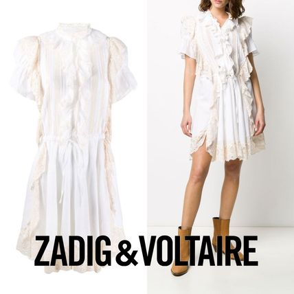 ZADIG & VOLTAIRE Dresses Casual Style Chiffon Medium Party Style Office Style