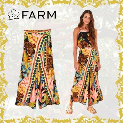 Printed Pants Flower Patterns Maxi Other Animal Patterns