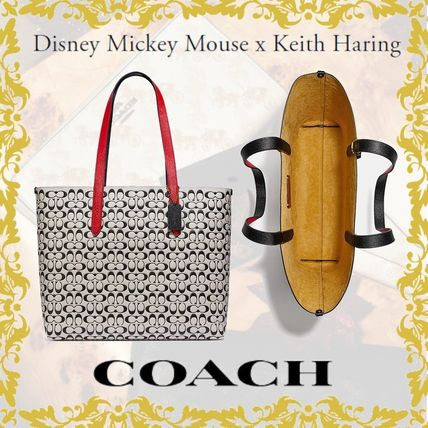 Coach Casual Style Suede Collaboration A4 Other Animal Patterns